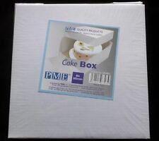 "New PME 8"" SQUARE Wedding Celebration Birthday Cake Transport BOX, 6"" DEEP"