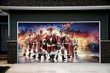 Christmas Santa Decor Garage Door Covers 3d Banners Outside House Billboard GD45