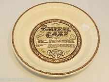 Cheese Cake Country Harvest 1983 Royal China Co. Pie Plate Recipe Made in USA*^