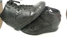 NIKE AIR  LADYS BLACK ANKLE BOOTS LACE UP LIGHTWEIGHT & DURABLE SIZE 6.