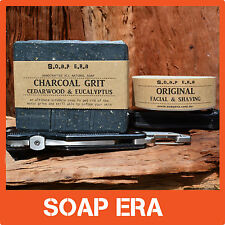 2 x handmade Soap for men,tradies,outdoor workers shaving bar + Charcoal Grit