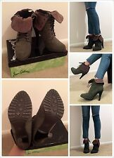 MIXX Suede Laced up Ankle Boot, Size 6.5 Pre Owned