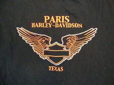 Harley-Davidson Motorcycles Paris Texas Store Souvenir Black T Shirt M