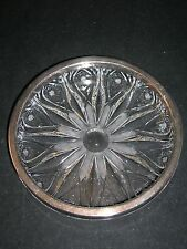 WINE/CHAMPAGNE BOTTLE COASTER W SILVER CONTENT RIM - SIGNED HEFRA - CIRCA 1960'S