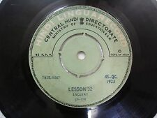 MINISTRY EDUCATION TALK ON TELEPHONE ENQUIRY LESSONS  rare EP RECORD INDIA  VG-