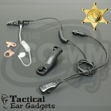 HAWK Police Lapel Microphone Earpiece with Tube Motorola XPR6380 XPR6350 XPR6550