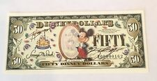 $50 BOYER DISNEY DOLLAR DISNEYLAND 50th ANNIVERSARY 2005 RARE!!!! SIGNED!
