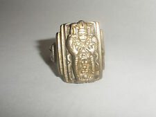 Vintage Mexico Mexican ?  Mayan Biker Ring Sterling Silver size 8