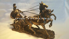 NEW Roman Chariot and Warrior Statue Sculpture Figurine Ship Immediately!!