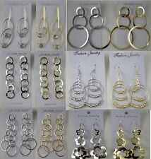 A-12 Wholesale Jewelry lots 10 pairs Mixed Style Fashion Dangle Earrings Plated