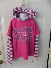 MINI BODEN  BEACH PARTY LONG SLEEVE HOODIE SHIRT  SIZE 11/12Y EUC