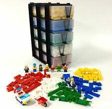 New Lego brick set minifigure storage unit sorter 5 drawer stackable organiser