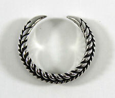 Silver Braided Viking Claw Ring - US Size 10 --- Norse/Medieval/Jewelry/Ragnar