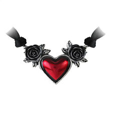 Blood Heart Pendant and Necklace by Alchemy Gothic Pewter Jewelry Rose P746