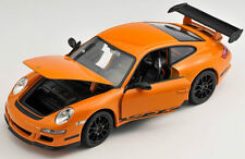 BLITZ VERSAND Porsche 911 997 GT3 RS orange Welly Modell Auto 1:24 NEU
