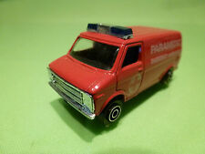 PLAYART  CHEVROLET CHEVY  VAN PARAMEDIC AMBULANCE - RED 1:66? RARE - VERY GOOD