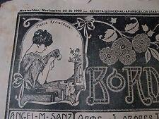 ANTIQUE NOV 25 1922 EMBROIDERY JOURNAL w/ PATTERNS, LACES, ALPHABETS, MONOGRAMS