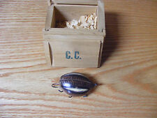 Carl Christianson Beetle Bug Lure in Brown and White Bug Color in Wood Box