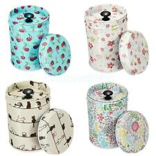 Set of 4pcs Sealed Tea Sugar Jar Tin Canister Box Double Cover Storage Container