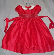 GIRLS SZ6 RARE EDITIONS SMOCK E   WINTER HOLIDAY /CHRISTMAS DRESS