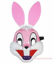 Easter Pink Long Ear Rabbit Bunny Face Mask Halloween Party Kids Toy Costume