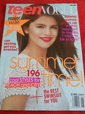 TEEN VOGUE JUNE JULY 2011 SELENA GOMEZ COOL STYLES FOR BEACH CITY BEST SWIMSUIT