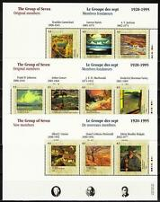 Canada 1995 Sc1559-61 MiBlk14-16 14.00 MiEu 3ms mnh Group of Seven-Artists