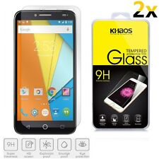 2x KHAOS Alcatel Onetouch Fierce XL 5054 Premium Tempered Glass Screen Protector