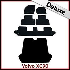 Volvo XC90 Mk1 2002-2015 Tailored LUXURY 1300g Carpet Car & Boot Mats BLACK