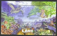 ˳˳ ҉ ˳˳MYS046 Malaysia 2012 'Underwater Life' M/Sheet MNH Recent Turtle Fishes