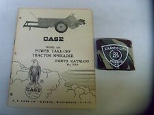 CASE MODEL 105 POWER TAKE-OFF TRACTOR SPREADER PARTS CATALOG # 758