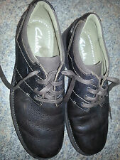 Clarks Senner Place 26066255 Brown Tumbled Leather Dress Shoes  MENS 10 M
