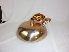 Vtg Mid Century Copper Tone Pull Down Ceiling Light Fixture ****Needs TLC***