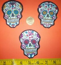 New! Cool! Sugar Skull IRON-ONS FABRIC APPLIQUES IRON-ONS