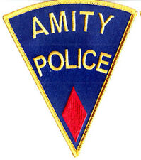 "JAWS Movie RED Amity Police  5"" Embroidered Patch- FREE S&H (APPA-0002)"