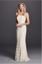 Lace Sheath Wedding Dress with Godet Inserts