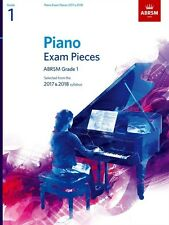 ABRSM Piano Exam Pieces Book Only 2017 - 2018, Grade 1 - Same Day P+P