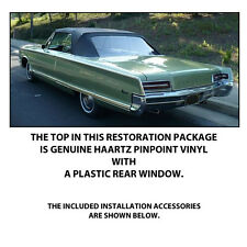 CHRYSLER NEWPORT AND 300 CONVERTIBLE TOP DO IT YOURSELF Pkg 1965-1966