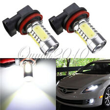 2PCS XENON BIANCO H11 7.5W SUPER POWER COB LED AUTO DRIVING FOG NEBBIA LAMPADINE