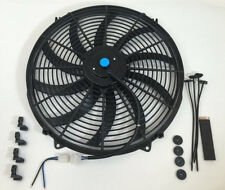 "16"" Electric Fan Curved Blades S Radiator Cooling Fan 3000 CFM Reversible 12V"