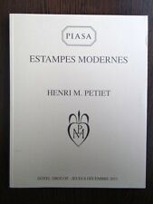 Catalogue Estampe Moderne Collection Henri Petiet Degas Maurice Denis Signac