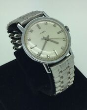 Mens 1970s Vintage 38mm Timex Silver Tone Stainless Automatic Flex Band Watch