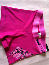 NIKE PRO dri fit SHORTS  SIZE LARGE ACTIVE NEON HOT PINK ANIMAL  PRINT