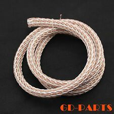 3.28ft/1m 12TC Teflon OCC Speaker Cable HIFI Audio Wire Power Cord DIY 24Strands