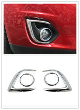 4X Chrome Head Fog Light Front Fog Lamp Cover Trim For Mitsubishi ASX 2013-2015