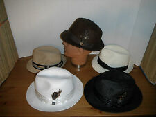 Lot of 5 Men's XL Fedora hat Scala Stacy Adams toyo milan & straw hats