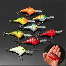 8pcs 11,5cm Mini Acero Metal Plástico Cebos Señuelos Ganchos Pesca Fishing Lure