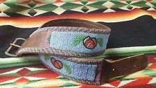"Extraordinary Antique Native American Indian Beaded Belt 32 1/2"" x 2""   Video AD"