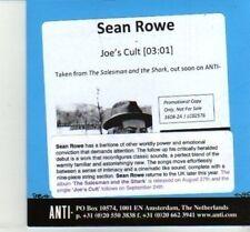(DJ139) Sean Rowe, Joe's Cult - 2012 DJ CD