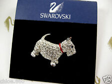 SIGNED SWAROVSKI PAVE' CRYSTAL SCOTTIE DOG  PIN ~ BROOCH RETIRED NEW